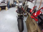 DUCATI Panigale V4 AVIONIC N TEK MOTORS half exhaust line project License plate head mufflers ...JPG